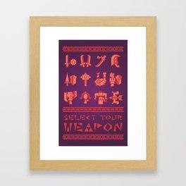 Monster Hunter: Select Your Weapon Framed Art Print