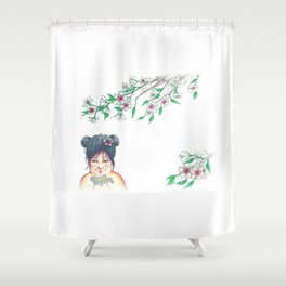 Kokeshi Shower Curtain