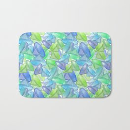 Placer precious stones, yellow , green , blue . Bath Mat