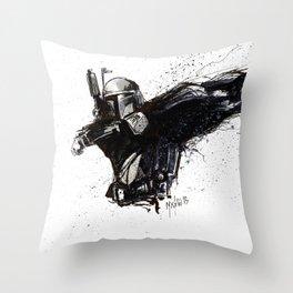 BOBA FETT INKS Throw Pillow