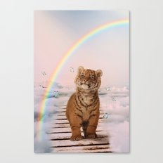 A tiger on the Rainbow Bridge Canvas Print