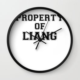 Property of LIANG Wall Clock