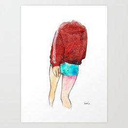 turn or burn Art Print
