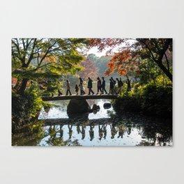 Japanese Park in Autumn Canvas Print