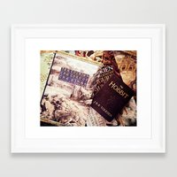 tolkien Framed Art Prints featuring Tolkien Books by Apples and Spindles