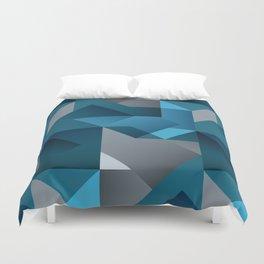 Geometric blue Duvet Cover