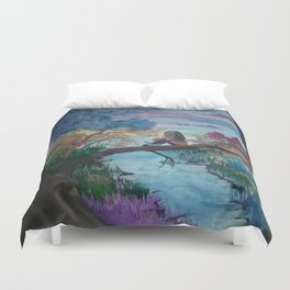 Lost In Thoughts Duvet Cover