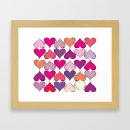 colerfull hearts Framed Art Print