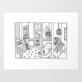 inside the life Art Print