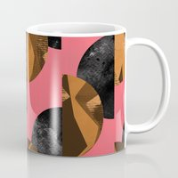 black and gold Mugs featuring gold,black by Georgiana Paraschiv