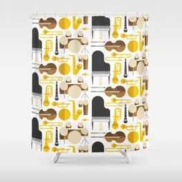 Jazz instruments Shower Curtain