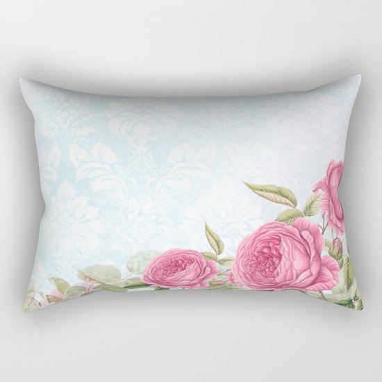 Pretty vintage roses #3 Rectangular Pillow