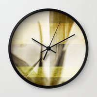 grunge Wall Clocks featuring Grunge by Fine2art
