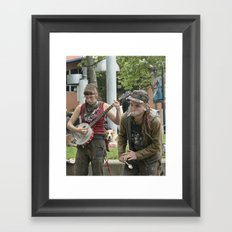 Banjo & the Smoker Framed Art Print