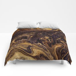 Chocolate and Gold Comforters