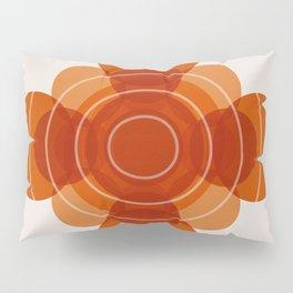Earthy Red Scandinavian Floral Design Pillow Sham