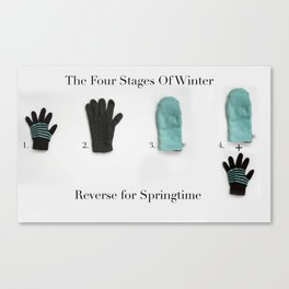 The Four Stages Of Winter Canvas Print