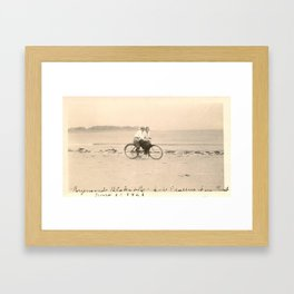 Love on a Bicycle Framed Art Print