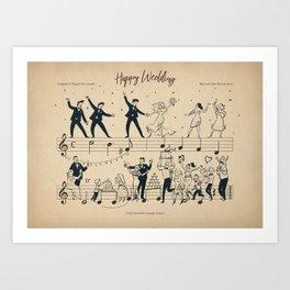 Happy Wedding Art Print