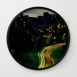 City at night Wall Clock