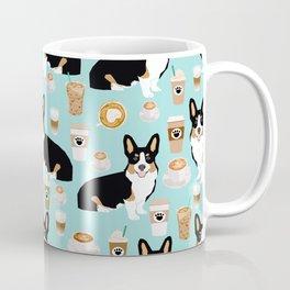 Welsh Corgi tri colored coffee lover dog gifts for corgis cafe latte pupuccino Coffee Mug