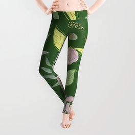 Simple and stylized flowers 9 Leggings