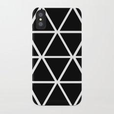 BLACK & WHITE TRIANGLES 2 iPhone X Slim Case
