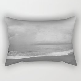 Storm over the Atlantic (black and white) Rectangular Pillow