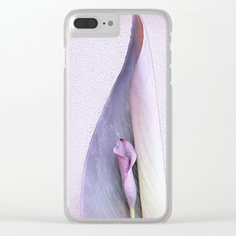 Purple Calla Over Canna Clear iPhone Case
