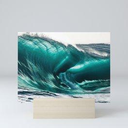 Crystal Clear High Surf - Scarborough Beach, Narragansett, Rhode Island Mini Art Print