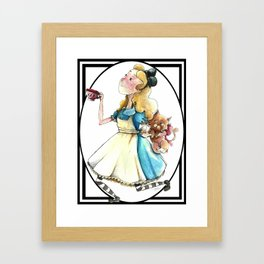 Alice & Dina (Bordered Variant) Framed Art Print