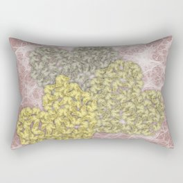 Fading butterfly hearts Rectangular Pillow