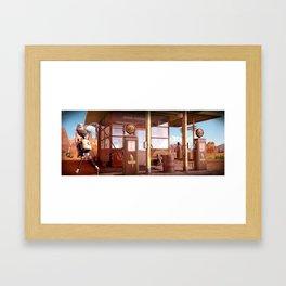 50's gas robot Framed Art Print