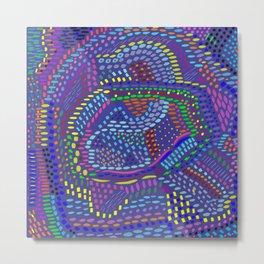 Purple Abstract, original artwork Metal Print