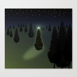 Christmas Tree Green Canvas Print