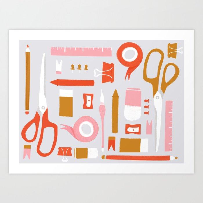 Stationary Pattern Art Print