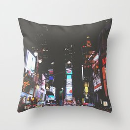 Evening Glow - Times Square Throw Pillow