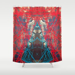 FX#505 - Kryptonian Oblongated Lines Shower Curtain