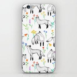 Fox Floral iPhone Skin