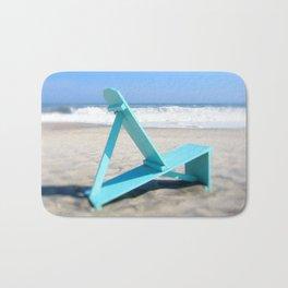 Turquoise Chair Bath Mat