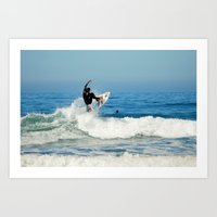 Dancing with the Waves Art Print