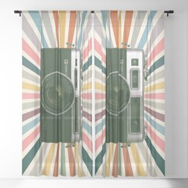 Retro Yashica Electro 35 Sheer Curtain