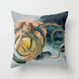 Cloud Mother Throw Pillow