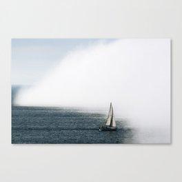 Sailboat Into Fog Canvas Print