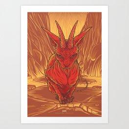 Lovely Dark Creatures series - Aestas Art Print