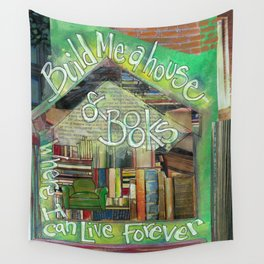House of Books Wall Tapestry