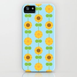 Kawaii Sunflowers iPhone Case