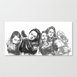 Lace of Ladies Canvas Print