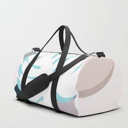 Monstera on Pebbles Duffle Bag