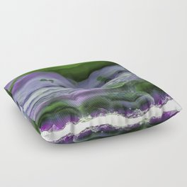 Purple and Green Agate Floor Pillow